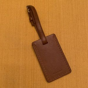New Without Tag Coach New York Leather Luggage Tag